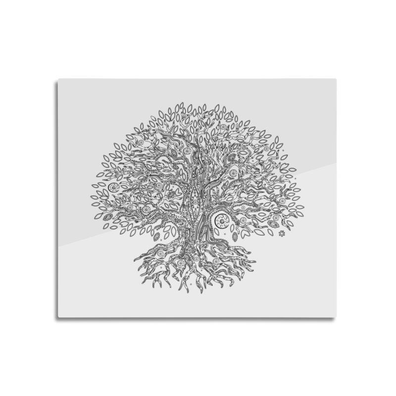 Halo Tree (Black) Home Mounted Acrylic Print by Pantheon Steel Fan-Art Store