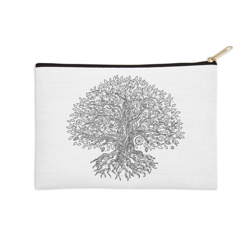 Halo Tree (Black) Accessories Zip Pouch by Pantheon Steel Fan-Art Store