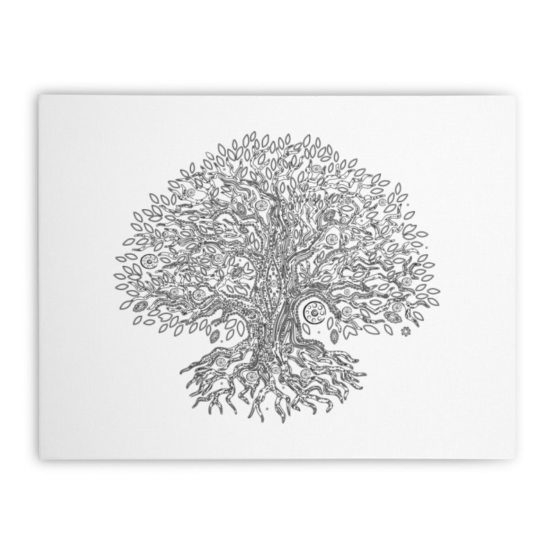Halo Tree (Black) Home Stretched Canvas by Pantheon Steel Fan-Art Store