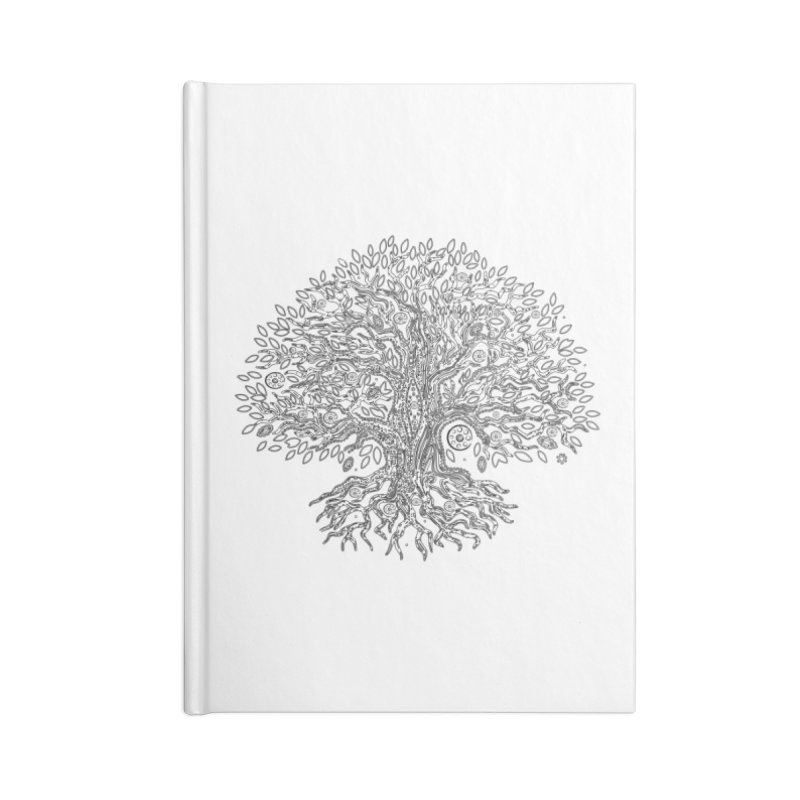 Halo Tree (Black) Accessories Blank Journal Notebook by Pantheon Steel Fan-Art Store