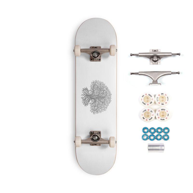Halo Tree (Black) Accessories Complete - Premium Skateboard by Pantheon Steel Fan-Art Store