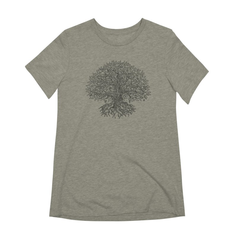 Halo Tree (Black) Women's Extra Soft T-Shirt by Pantheon Steel Fan-Art Store