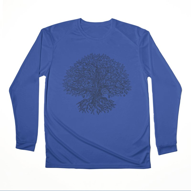 Halo Tree (Black) Men's Performance Longsleeve T-Shirt by Pantheon Steel Fan-Art Store