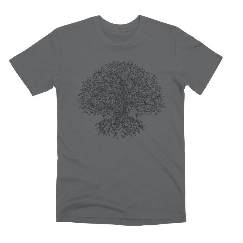 Halo Tree (Black) Men's Premium T-Shirt by Pantheon Steel Fan-Art Store