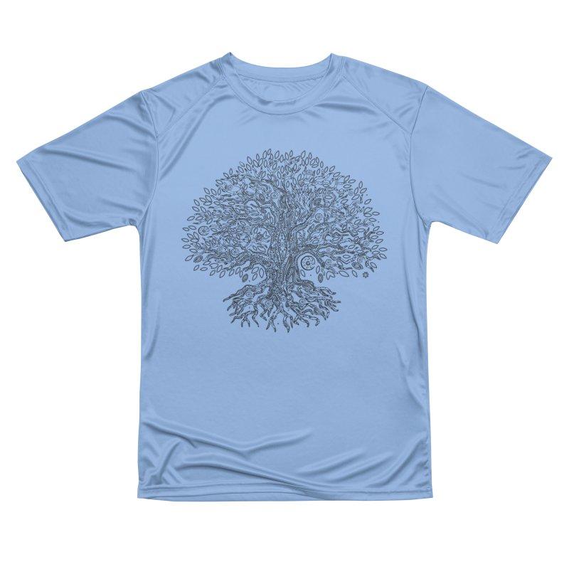 Halo Tree (Black) Men's Performance T-Shirt by Pantheon Steel Fan-Art Store