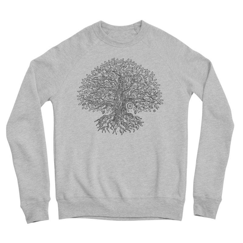 Halo Tree (Black) Men's Sponge Fleece Sweatshirt by Pantheon Steel Fan-Art Store