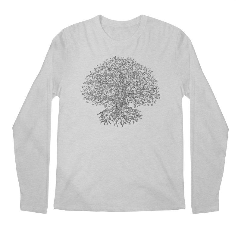 Halo Tree (Black) Men's Regular Longsleeve T-Shirt by Pantheon Steel Fan-Art Store
