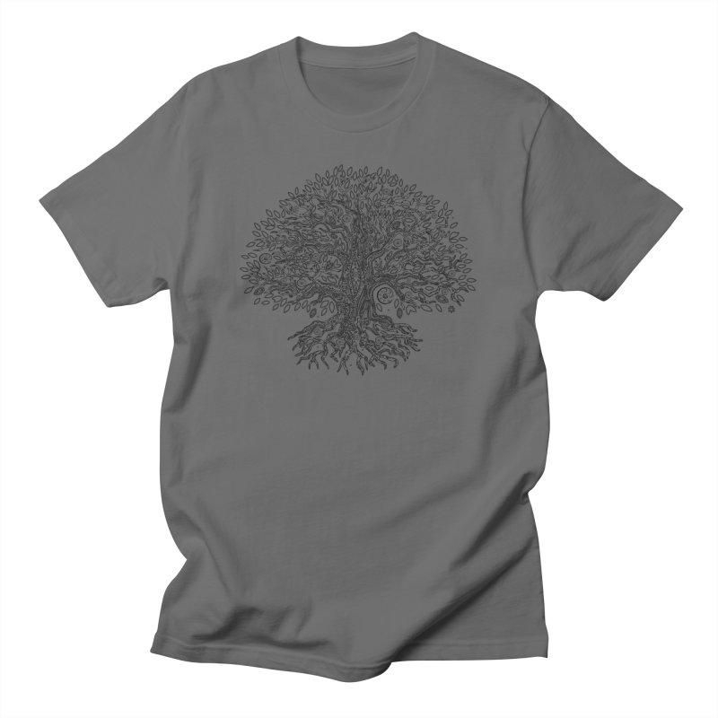 Halo Tree (Black) Men's T-Shirt by Pantheon Steel Fan-Art Store