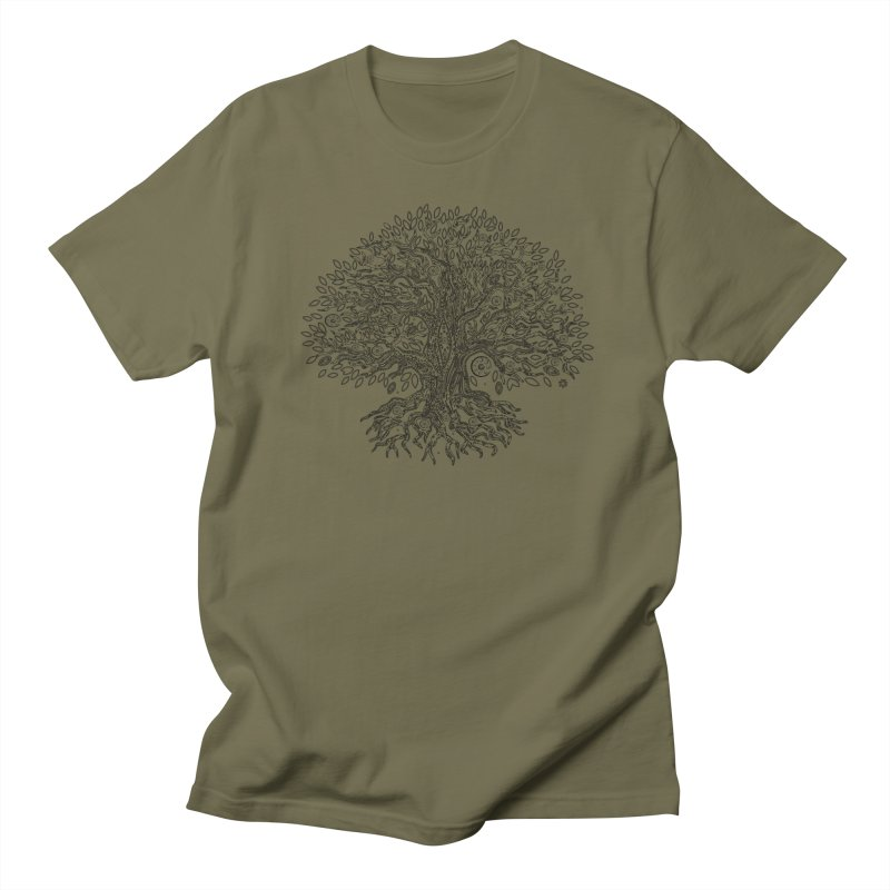 Halo Tree (Black) Women's Regular Unisex T-Shirt by Pantheon Steel Fan-Art Store