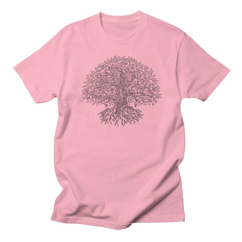 Halo Tree (Black) Men's Regular T-Shirt by Pantheon Steel Fan-Art Store