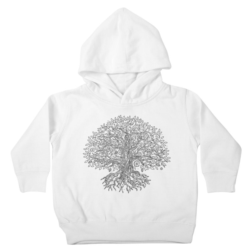 Halo Tree (Black) Kids Toddler Pullover Hoody by Pantheon Steel Fan-Art Store