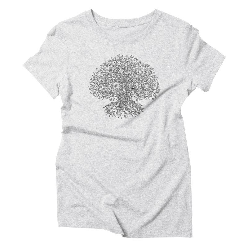 Halo Tree (Black) Women's Triblend T-Shirt by Pantheon Steel Fan-Art Store