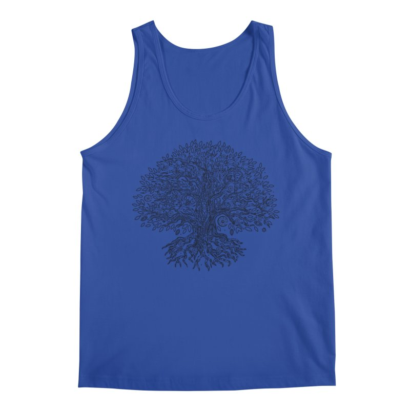 Halo Tree (Black) Men's Regular Tank by Pantheon Steel Fan-Art Store