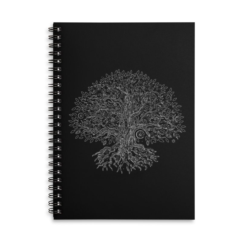 Halo Tree (White) Accessories Lined Spiral Notebook by Pantheon Steel Fan-Art Store