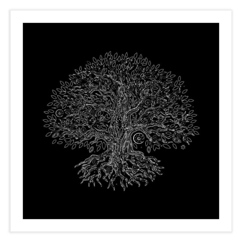 Halo Tree (White) Home Fine Art Print by Pantheon Steel Fan-Art Store
