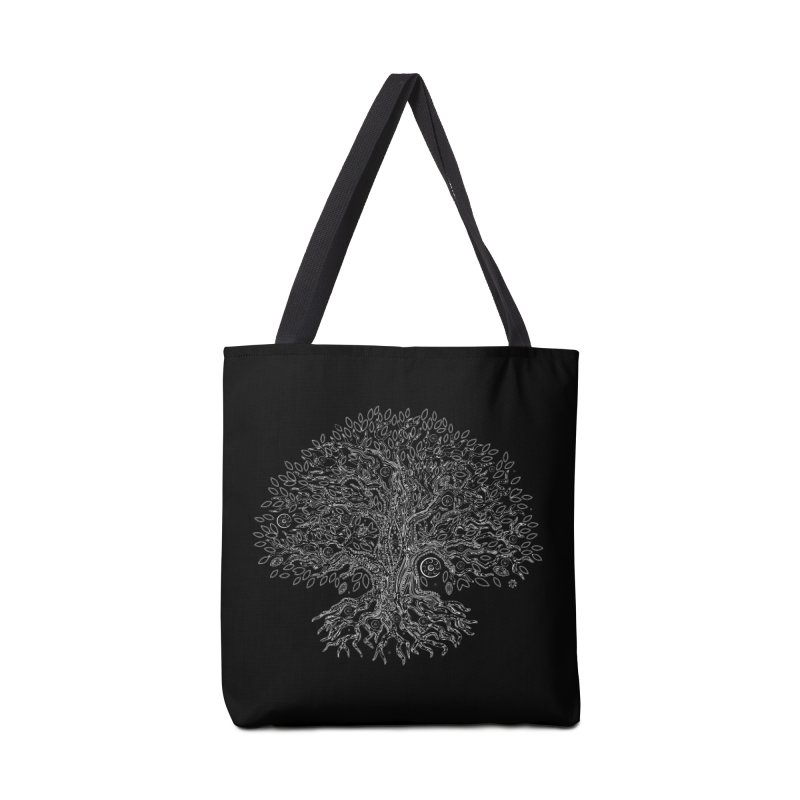 Halo Tree (White) Accessories Tote Bag Bag by Pantheon Steel Fan-Art Store