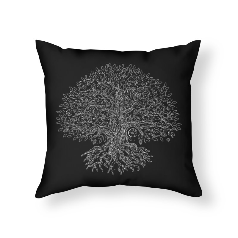 Halo Tree (White) Home Throw Pillow by Pantheon Steel Fan-Art Store