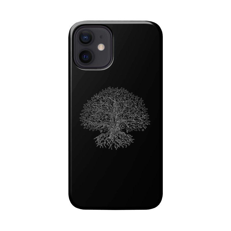Halo Tree (White) Accessories Phone Case by Pantheon Steel Fan-Art Store
