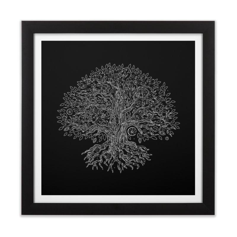 Halo Tree (White) Home Framed Fine Art Print by Pantheon Steel Fan-Art Store