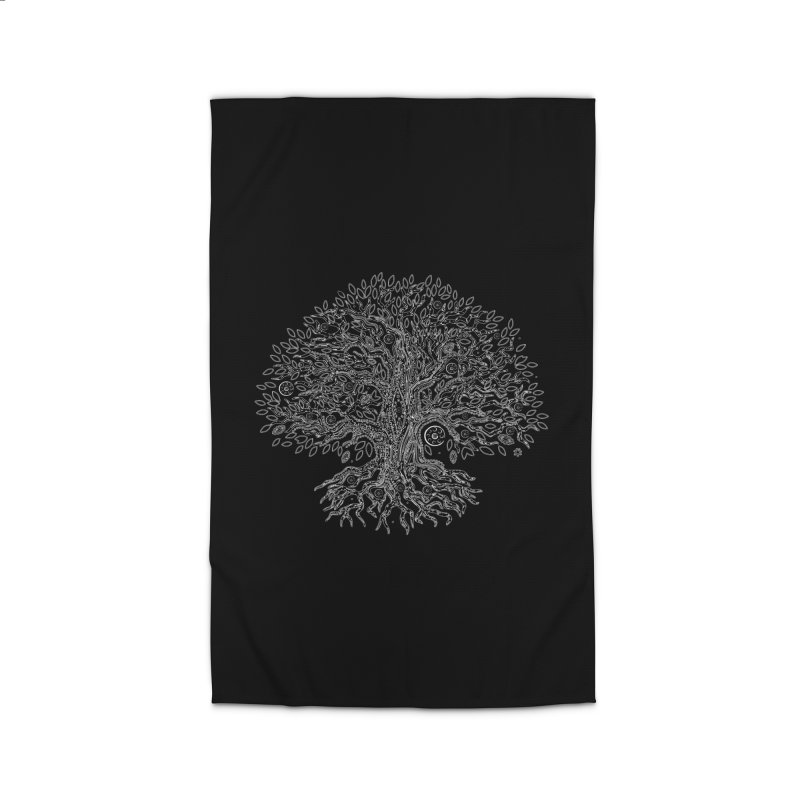 Halo Tree (White) Home Rug by Pantheon Steel Fan-Art Store