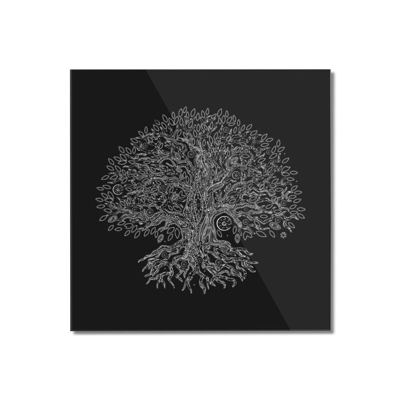 Halo Tree (White) Home Mounted Acrylic Print by Pantheon Steel Fan-Art Store