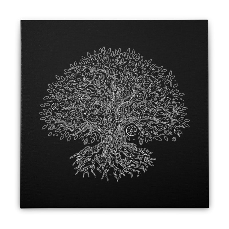 Halo Tree (White) Home Stretched Canvas by Pantheon Steel Fan-Art Store