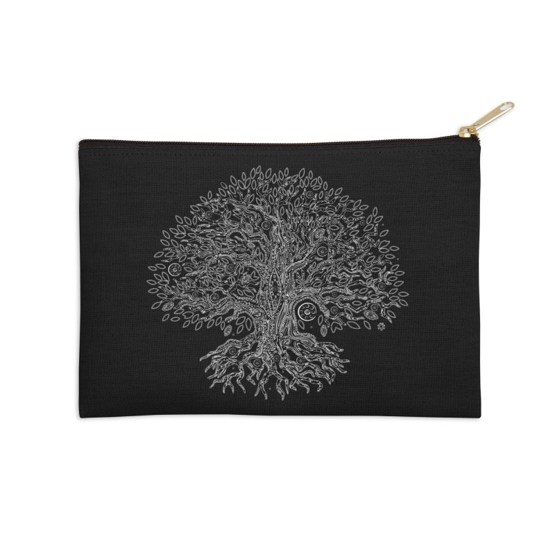 Halo Tree (White) Accessories Zip Pouch by Pantheon Steel Fan-Art Store
