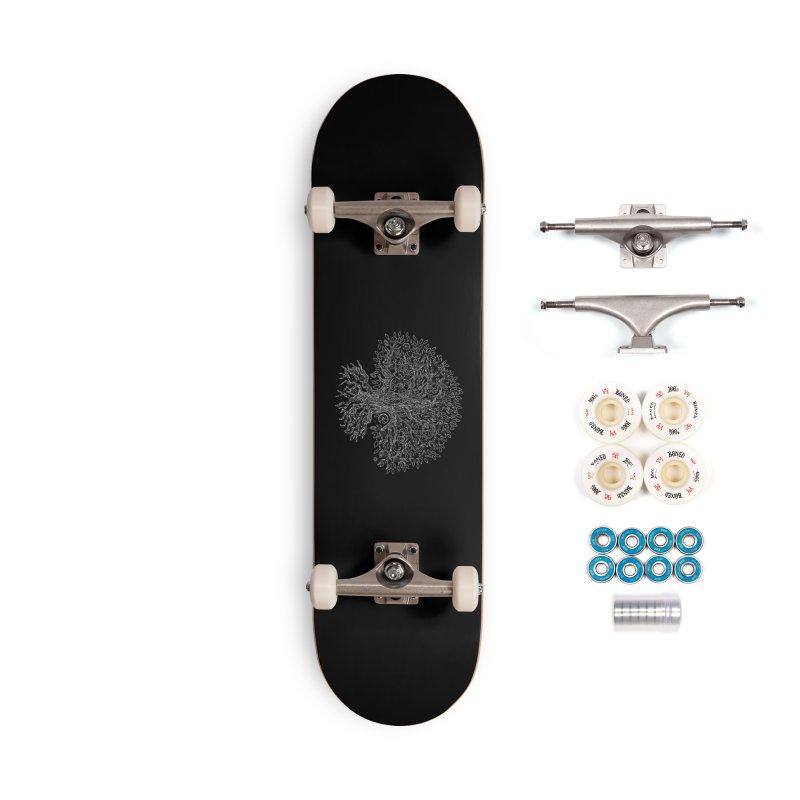Halo Tree (White) Accessories Complete - Premium Skateboard by Pantheon Steel Fan-Art Store