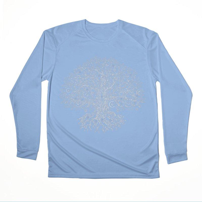 Halo Tree (White) Men's Performance Longsleeve T-Shirt by Pantheon Steel Fan-Art Store