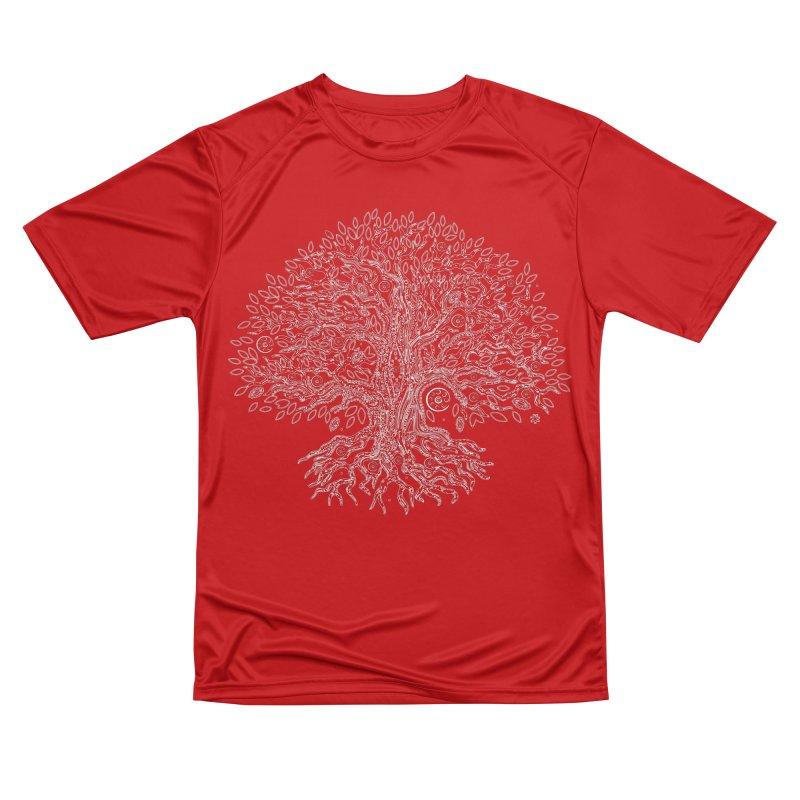 Halo Tree (White) Men's Performance T-Shirt by Pantheon Steel Fan-Art Store