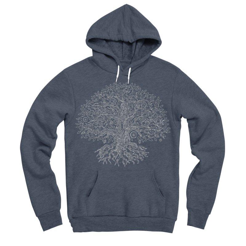 Halo Tree (White) Men's Sponge Fleece Pullover Hoody by Pantheon Steel Fan-Art Store