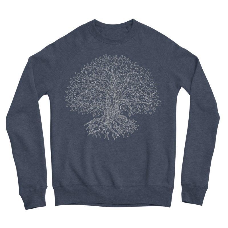 Halo Tree (White) Men's Sponge Fleece Sweatshirt by Pantheon Steel Fan-Art Store