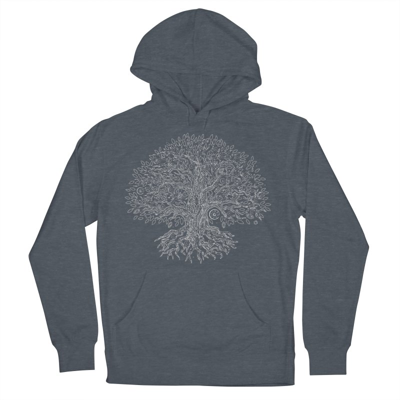 Halo Tree (White) Men's French Terry Pullover Hoody by Pantheon Steel Fan-Art Store