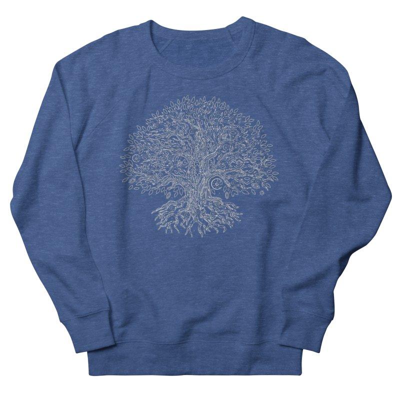 Halo Tree (White) Women's French Terry Sweatshirt by Pantheon Steel Fan-Art Store
