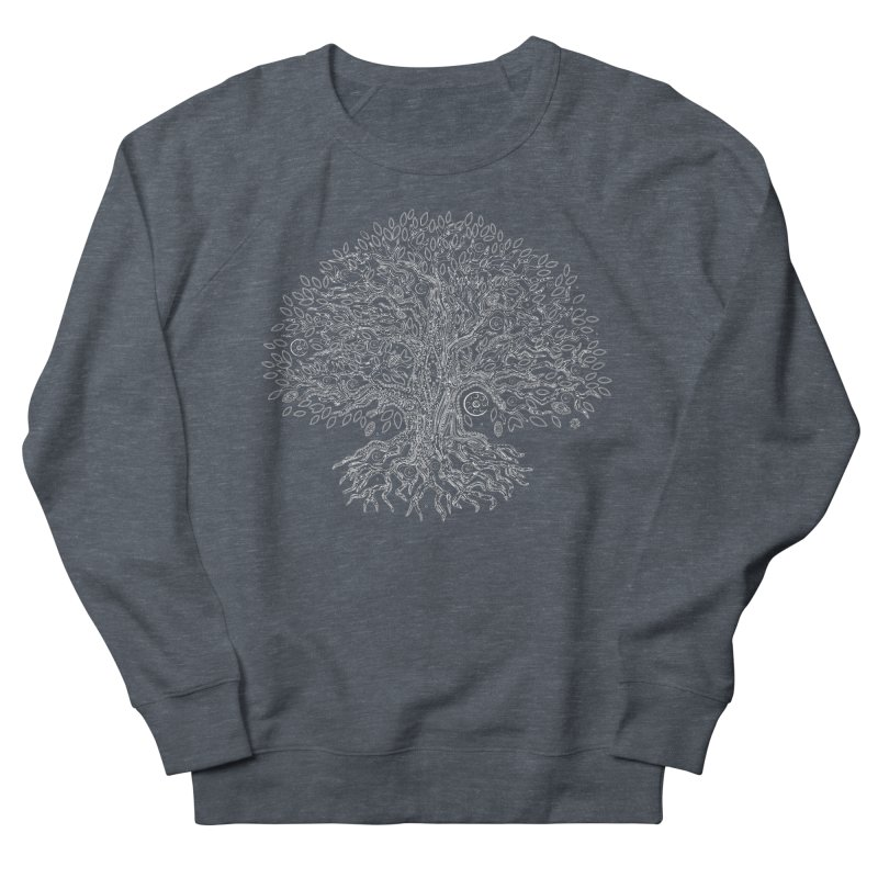 Halo Tree (White) Women's French Terry Sweatshirt by Pantheon Steel Fan-Art Store