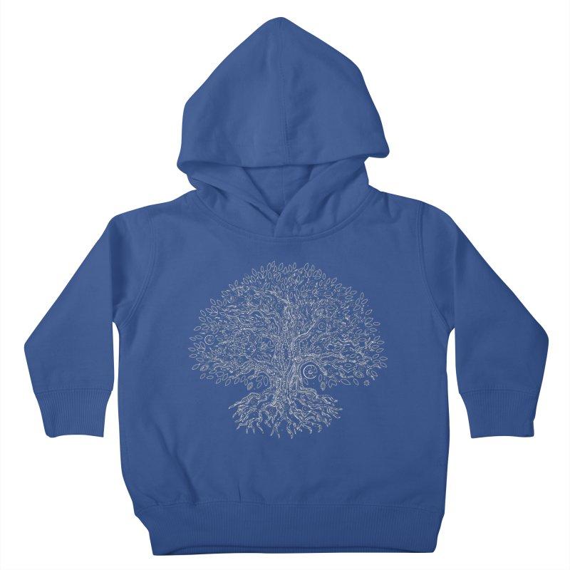 Halo Tree (White) Kids Toddler Pullover Hoody by Pantheon Steel Fan-Art Store