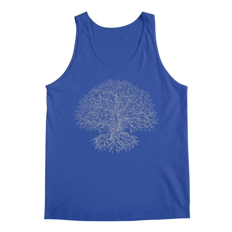 Halo Tree (White) Men's Regular Tank by Pantheon Steel Fan-Art Store