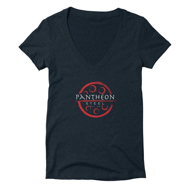 Insignia by Shane Caroll Women's Deep V-Neck V-Neck by Pantheon Steel Fan-Art Store