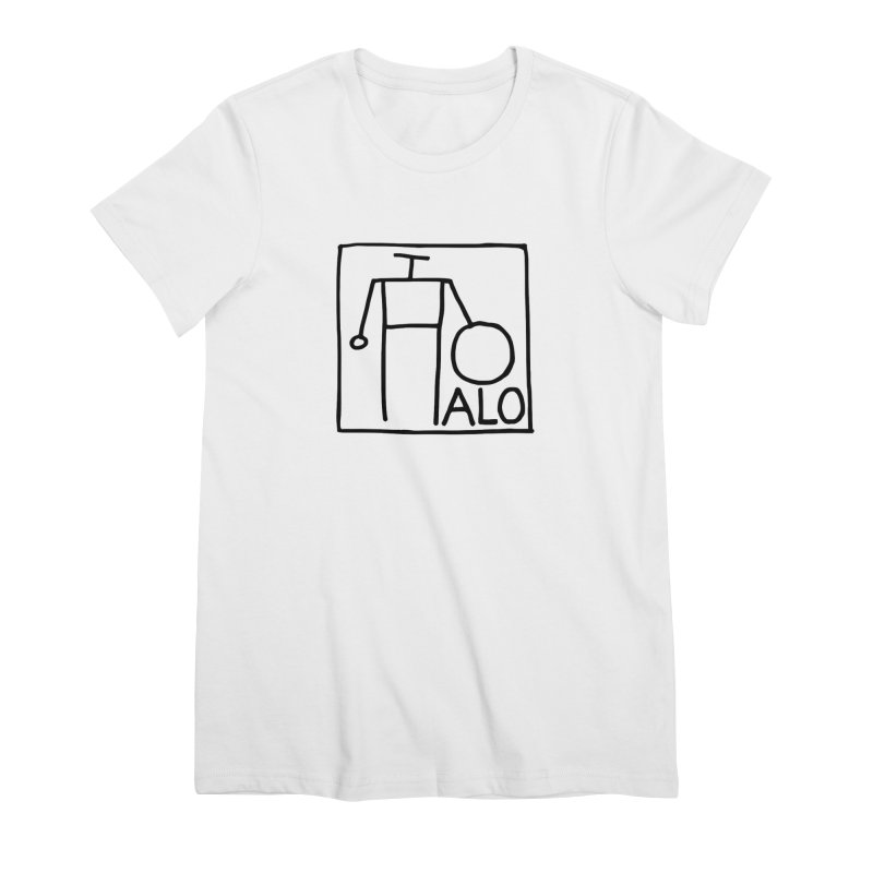 Stick Figure by Hobo Artist Women's Premium T-Shirt by Pantheon Steel Fan-Art Store