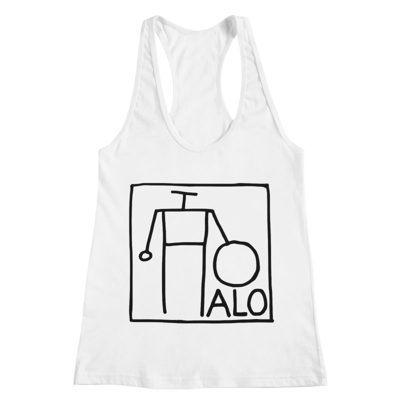 Stick Figure by Hobo Artist Women's Racerback Tank by Pantheon Steel Fan-Art Store