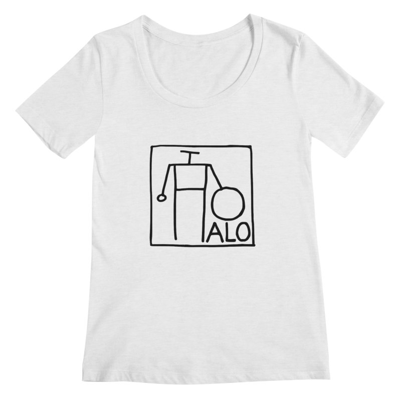 Stick Figure by Hobo Artist Women's Regular Scoop Neck by Pantheon Steel Fan-Art Store