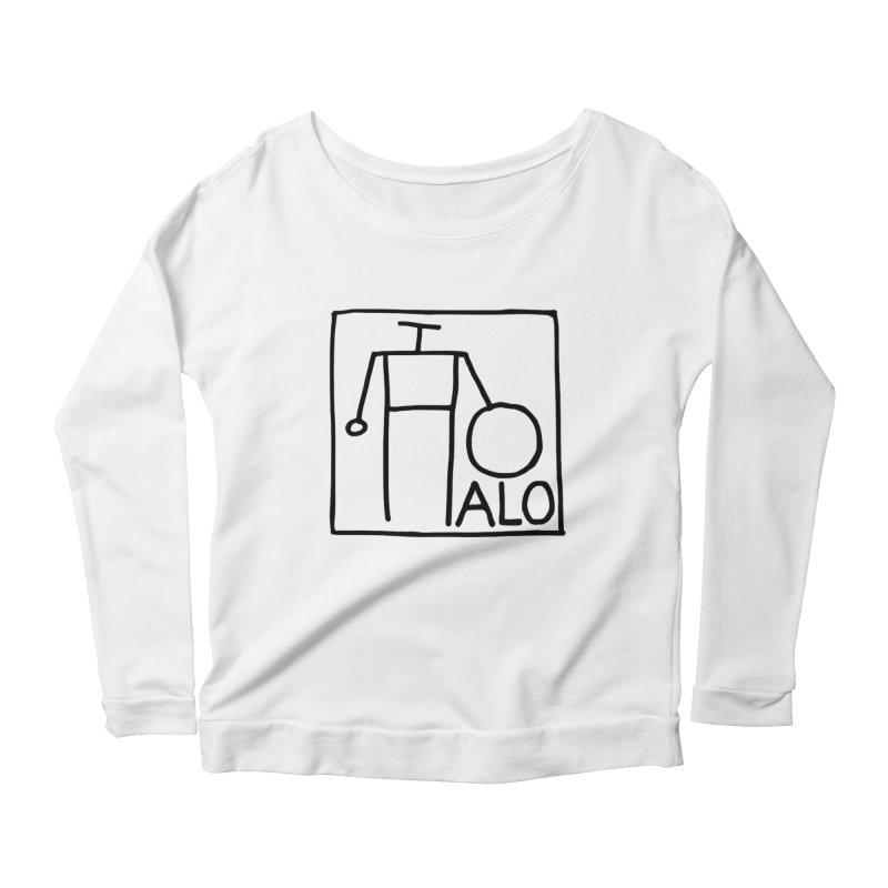 Stick Figure by Hobo Artist Women's Scoop Neck Longsleeve T-Shirt by Pantheon Steel Fan-Art Store