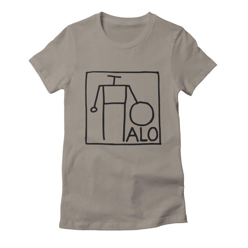 Stick Figure by Hobo Artist Women's Fitted T-Shirt by Pantheon Steel Fan-Art Store