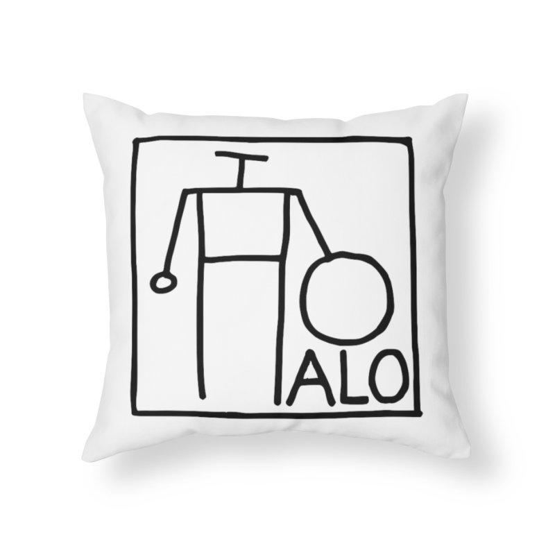 Stick Figure by Hobo Artist Home Throw Pillow by Pantheon Steel Fan-Art Store