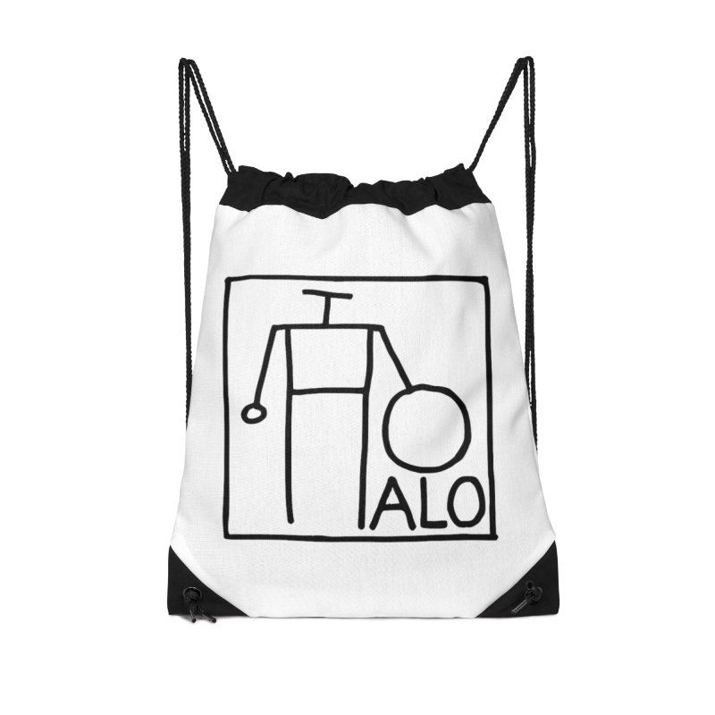 Stick Figure by Hobo Artist Accessories Drawstring Bag Bag by Pantheon Steel Fan-Art Store