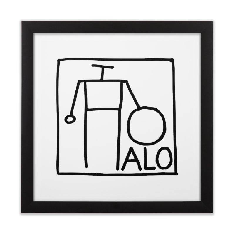 Stick Figure by Hobo Artist Home Framed Fine Art Print by Pantheon Steel Fan-Art Store