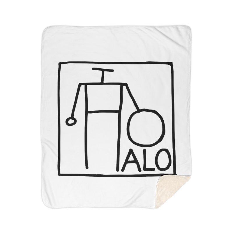 Stick Figure by Hobo Artist Home Sherpa Blanket Blanket by Pantheon Steel Fan-Art Store