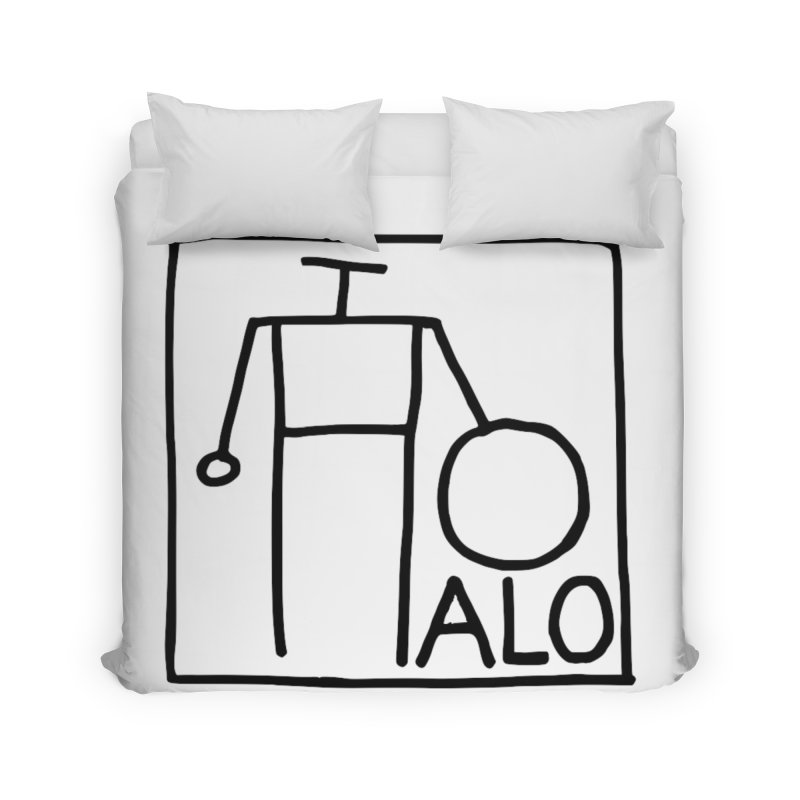 Stick Figure by Hobo Artist Home Duvet by Pantheon Steel Fan-Art Store