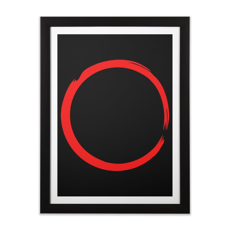 Ensō Home Framed Fine Art Print by Pantheon Steel Fan-Art Store