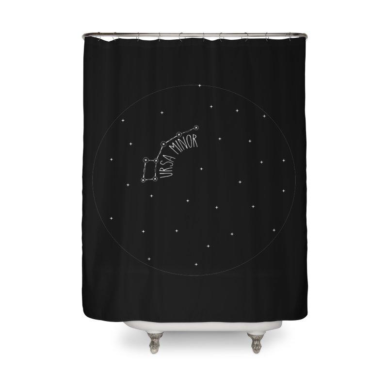 Ursa Minor Home Shower Curtain by Pantheon Steel Fan-Art Store
